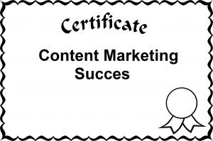 Content Marketing Succes
