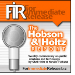 For Immediate Release the Hobson Holtz Report
