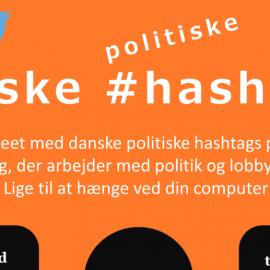 Infografik: Danske politiske hashtags