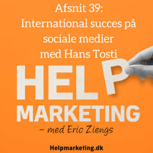 Help Marketing Hans Tosti international succes social medier