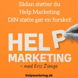 Sådan støtter du Help Marketing