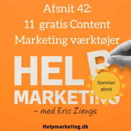 HM042: 11 gratis content marketing værktøjer