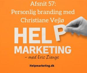 Help Marketing Christiane Vejlø personligt brand