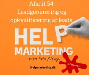 Help Marketing leadgenerering opkvalificering halfdan timm