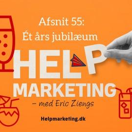 HM055: Ét års podcast jubilæum af Help Marketing