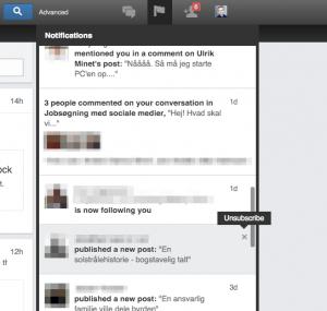 afmeld linkedin notifikationer