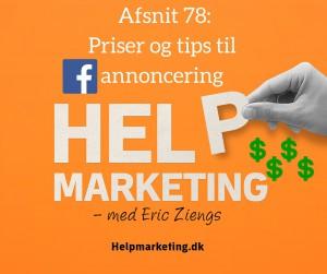 tips og priser for facebook annoncering markedsføring help marketing